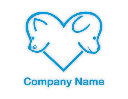 cat and dog logotype Illustration