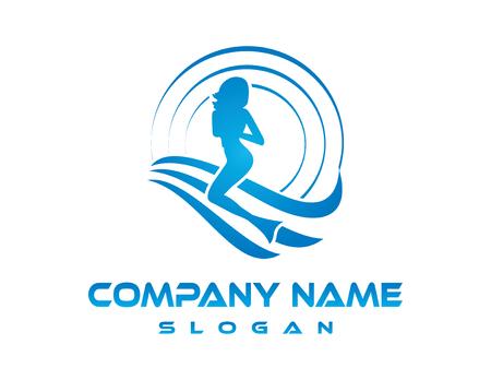 Mermaid company logo 版權商用圖片 - 82988976