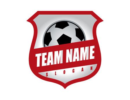 Soccer shield logo Illustration