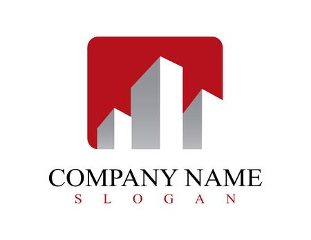 Logo comercial de bienes raíces