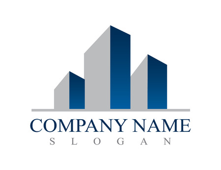不動産ビジネスのロゴ  イラスト・ベクター素材
