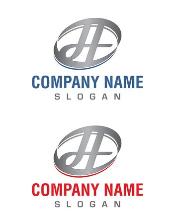 H の文字のロゴ  イラスト・ベクター素材