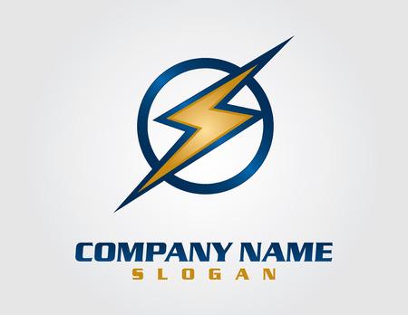 電気会社のロゴ  イラスト・ベクター素材