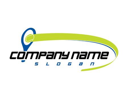 Club de tennis logo Banque d'images - 82958473