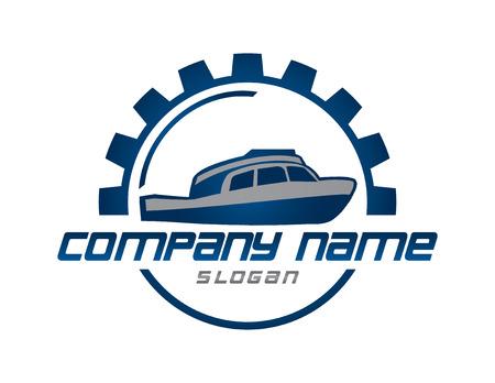 ボートの円のロゴ