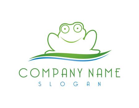 カエルのロゴ  イラスト・ベクター素材