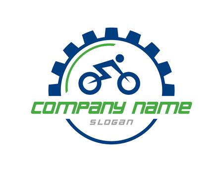 Bicycle logo Ilustracja