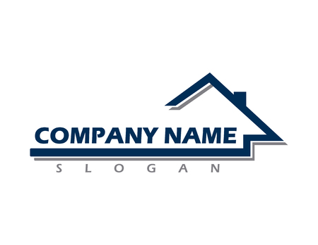 Real estate company logo Illustration