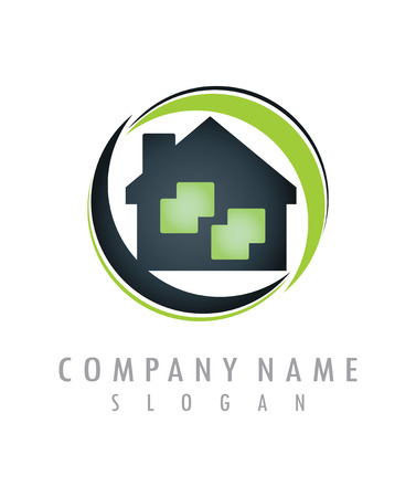 huis logo 2 Stock Illustratie