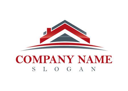 Rood onroerend goed logo