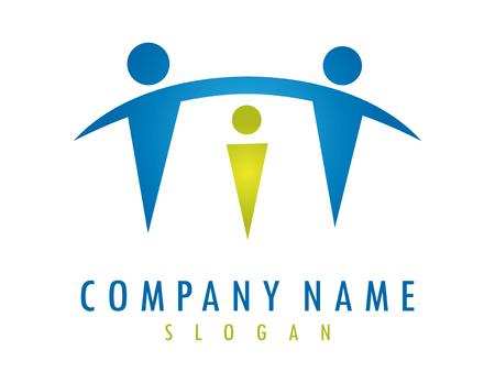 Schützendes Elternlogo Logo