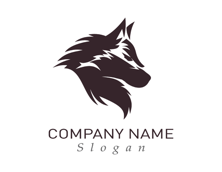 wolf design logo Vector illustration.