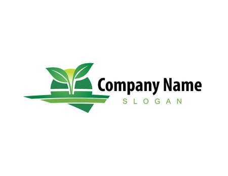 landscaping company logo Vector illustration. Stock Illustratie