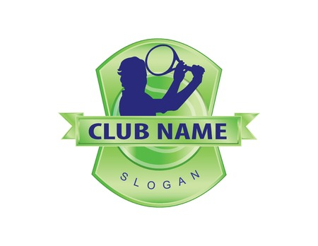 tennis club logo Vector illustration.