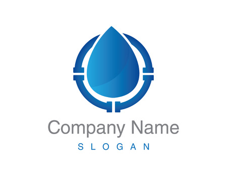 Loodgieter logo Vector illustratie. Stock Illustratie