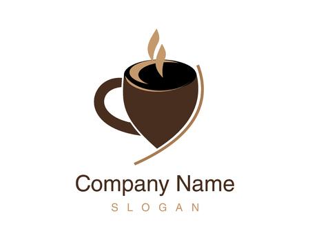 Cup coffee illustration. Illustration