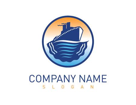 Ship logo Vector illustration. Ilustracja