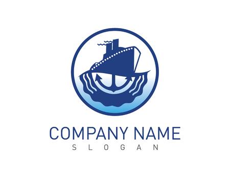 Ship logo Vector illustration. Vectores