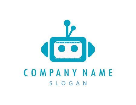 Robot logo 向量圖像