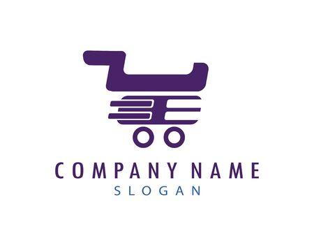 Shopping cart logo Illustration