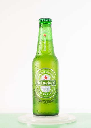 Cold bottle of Heineken Lager Beer