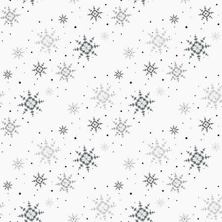 Kerst naadloze patroon met sneeuwvlokken witte achtergrond eps 10 Vector Illustratie