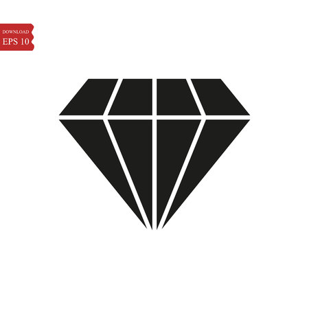 Diamond icon in trendy flat style isolated on background. Diamond icon page symbol for your web site design Diamond icon logo, app, UI. Diamond icon Vector illustration, EPS 10.