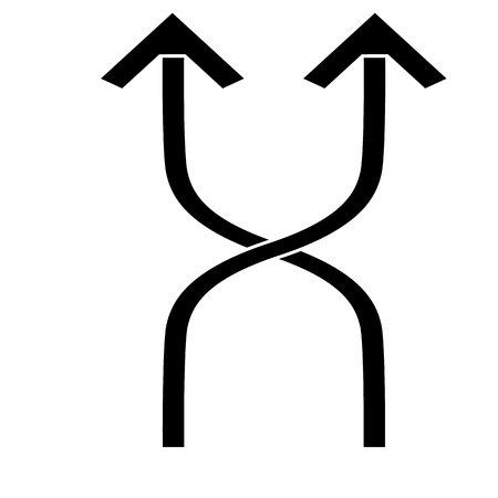 Flexibilitätssymbol auf weißem Hintergrund, Vektorillustration eps10
