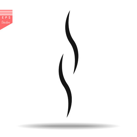 Smoke hot eps vector icon. Flat web design element for website or app.