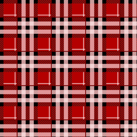 Tartan Seamless Pattern Background. Red, Black and White Plaid, Tartan Flannel Shirt Patterns. Trendy Tiles Vector Illustration for Wallpapers.
