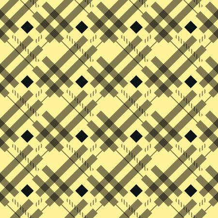 blue orange tartan fabric texture diagonal little pattern seamless vector illustration