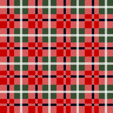 Lumberjack plaid pattern in red and black. Seamless vector pattern. Simple vintage textile design. eps 10