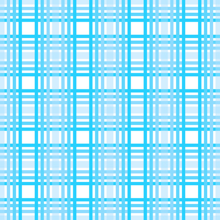 Seamless tartan plaid pattern. Checkered fabric texture print in dark grayish blue, navy, pale blue and white eps10 Illustration