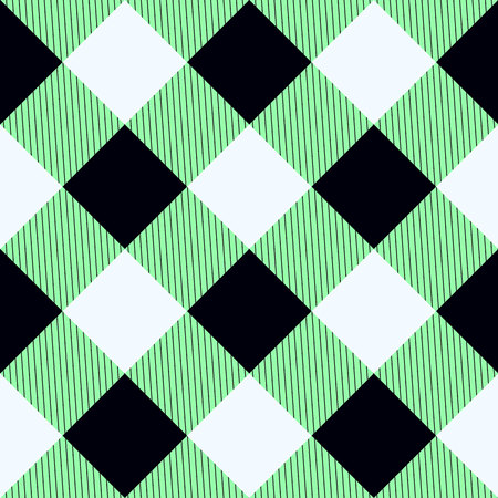 green tartan fabric texture in a square pattern seamless vector illustration eps10 Illustration