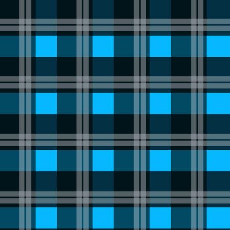 Patrón de textura de tela de tartán azul perfecta ilustración vectorial EPS 10