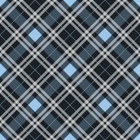 Tela de tartán azul textura patrón diagonal perfecta ilustración vectorial EPS 10 Ilustración de vector