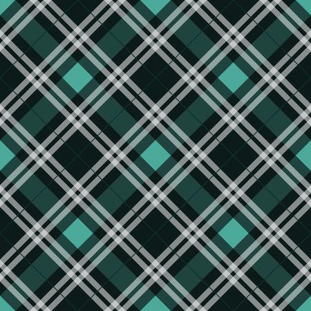 Textura de tela de tartán azul patrón diagonal perfecta ilustración vectorial eps10