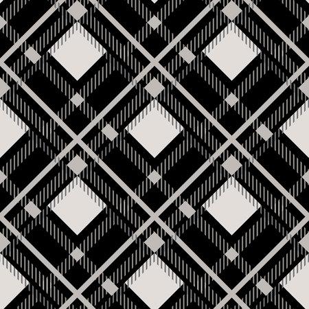 Black white diagonal check texture seamless pattern. 일러스트