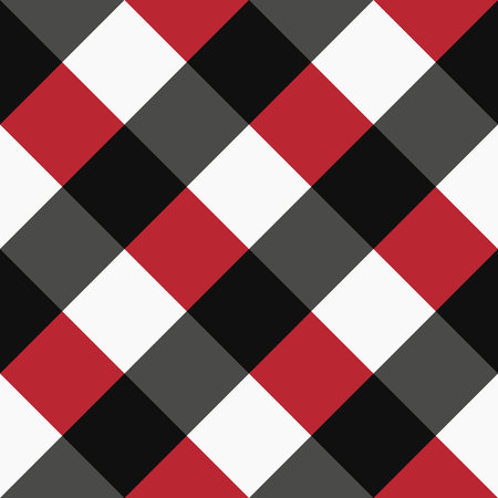vector red black and white tartan plaid pattern for background eps 10 Illustration