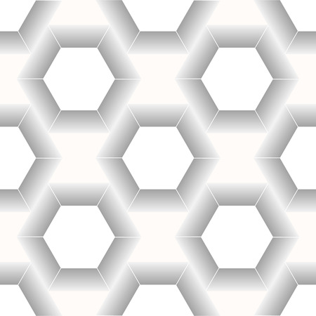 Vector modern seamless geometry pattern hexagon, black and white abstract geometric background, trendy print, monochrome retro texture, hipster fashion design eps10 Illustration
