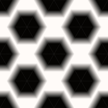 Black and white hexagon honeycomb seamless pattern background. eps10
