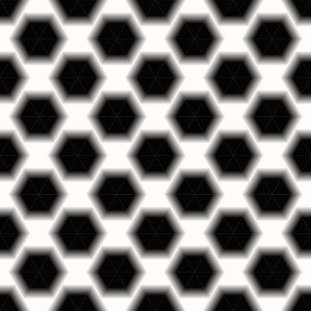 Black and White Abstract hexagonal background Dark geometric seamless pattern eps10 Standard-Bild - 127710189