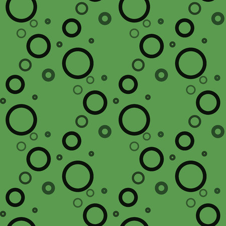 Circle Seamless on green background pattern eps10 Standard-Bild - 127710190