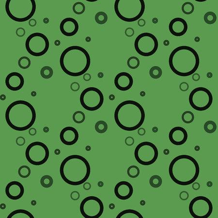 Circle Seamless on green background pattern eps10