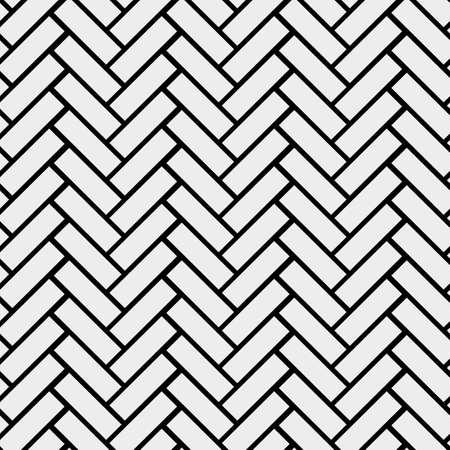 Black and white simple wooden floor herringbone parquet seamless pattern, vector background eps 10