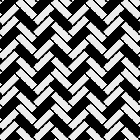 Black and white simple wooden floor herringbone parquet seamless pattern, vector background eps10 Illustration