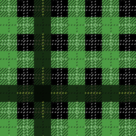 green tartan fabric texture diagonal pattern seamless vector illustration eps 10