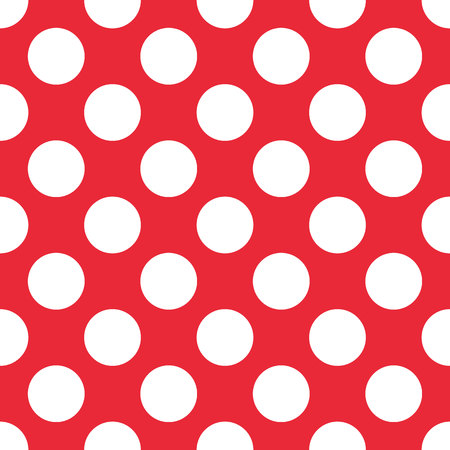 Red Polka Dot seamless pattern. For plaid, tablecloths, clothes, shirts, dresses, paper, bedding, blankets quilts and other textile products Vector illustration eps10