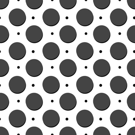 Polka dot pattern in black and white, vector design eps 10 Illustration