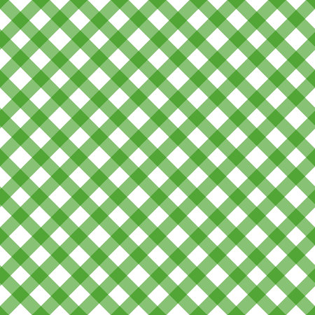 Green argyle seamless pattern background. Irish or St. Patrick theme. Diamond shapes with dashed lines. Simple flat vector illustration. eps10 Illustration